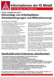 Informationen der IG Metall - IG Metall Salzgitter-Peine