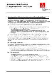 Resolution - IG Metall Bezirk Berlin-Brandenburg-Sachsen
