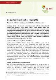 Internationale Gartenschau Hamburg 2013 kooperiert mit Konsulaten