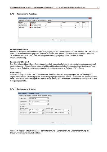 WINFEM Advanced für EMZ MB12/561-HB24/MB24/HB48/MB48 ...