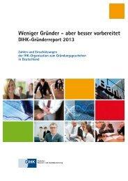 DIHK-Gründerreport 2013 - IHK Fulda
