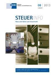 Steuerinfo 08 | 2013 - Deutscher Industrie- und Handelskammertag