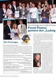 Forest Finance gewinnt den Ludwig 2013 - IHK Bonn/Rhein-Sieg
