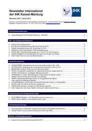Newsletter International der IHK Kassel-Marburg