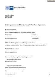 Änderungsantrag - und Handelskammer Nord Westfalen