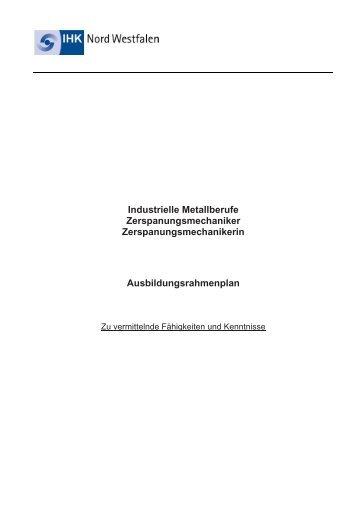 RP Zerspanungsmechaniker - und Handelskammer Nord Westfalen