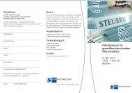 Einladung Umsatzsteuer Ausland 7 - und Handelskammer Nord ...