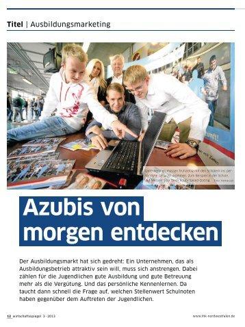 Azubis von morgen entdecken - und Handelskammer Nord Westfalen