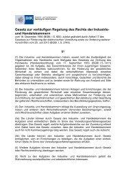 Gesetz zur vorläufigen Regelung des Rechts der Industrie- und ...
