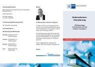 Flyer Sprechtage Unternehmensfinanzierung netzwerk nordbayern