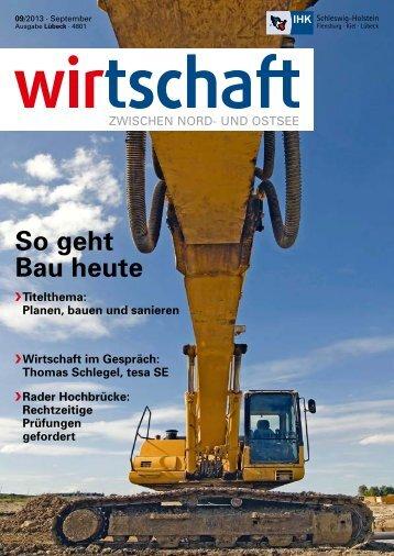 So geht Bau heute - IHK Schleswig-Holstein