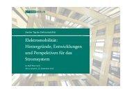 Elektromobilität: Hintergründe Entwicklungen ... - IHK Schwerin