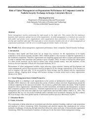 Role of Talent Management on Organızatıon Performance in ...
