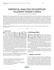 Empirical Analysis On Doppler Tolerant Radar Codes - International ...