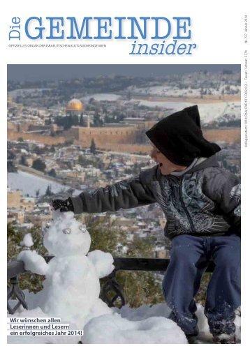 Insider JANUAR 2014 als .pdf herunterladen - Israelitische ...