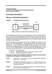Protokollmechanismen - Institut für Kommunikationsnetze und ...