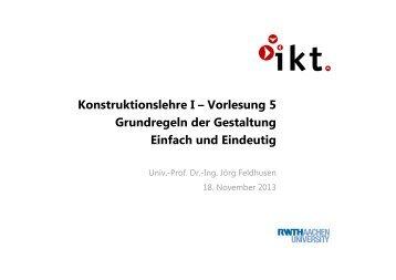 Vorlesung 5 - Institut für Allgemeine Konstruktionstechnik IKT ...