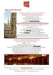 MILANO - Teatro alla Scala Ing - Il Sipario Musicale