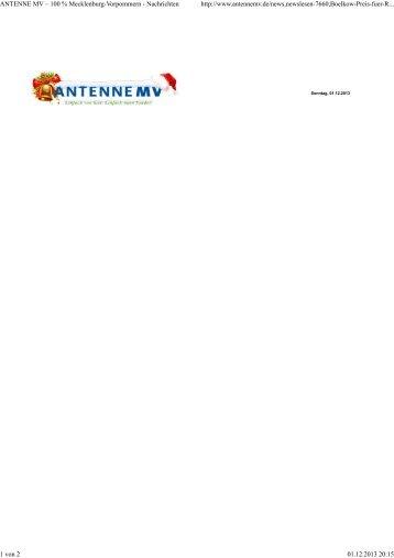 ANTENNE MV – 100 % Mecklenburg-Vorpommern - Nachrichten