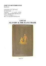 LIST 63 SLAVERY & THE SLAVE TRADE