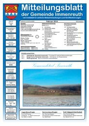 Teil 1 Mitteilungsblatt Februar 2014 - Immenreuth