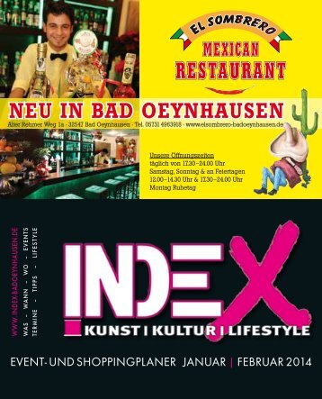 aktuelle INDEX-Ausgabe - INDEX Bad Oeynhausen