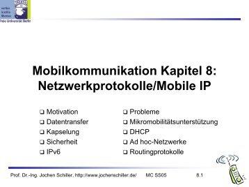 Mobilkommunikation Kapitel 8: Netzwerkprotokolle/Mobile IP