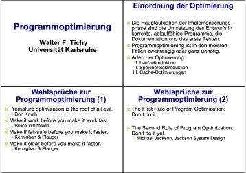 Programmoptimierung