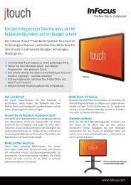 InFocus INF7001 JTouch Datasheet (German)