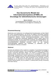 Das Dynamische Modell der Informationskompetenz (DYMIK) als ...