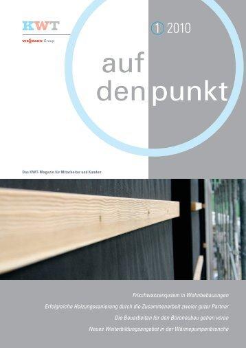 auf den Punkt - Ausgabe 01 2010 - KWT Kälte-Wärmetechnik AG