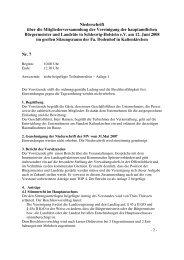 Niederschrift über die Mitgliederversammlung der Vereinigung der ...
