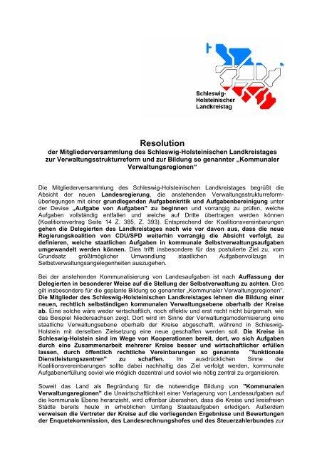 Resolution - Dokumentation der Verwaltungsmodernisierung in ...