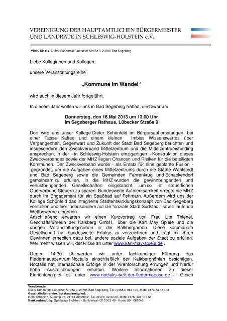 """""""Kommune im Wandel"""" VEREINIGUNG DER HAUPTAMTLICHEN ..."""