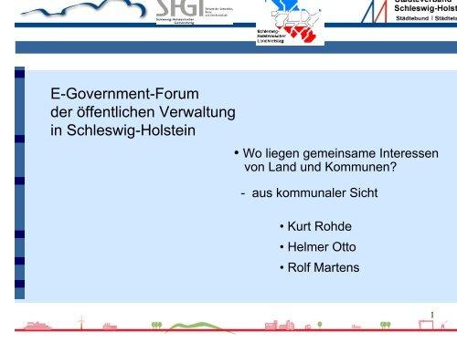 Kurt Rohde, Städteverband Schleswig-Holstein - Dokumentation der ...