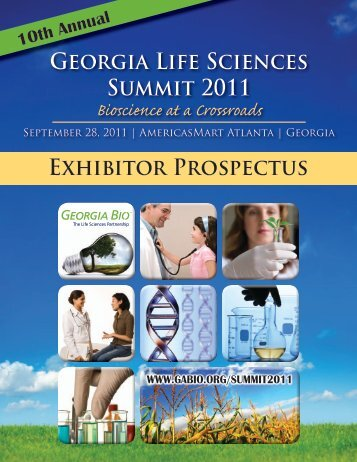 Exhibitor Prospectus Georgia Life Sciences Summit 2011 - Informed ...