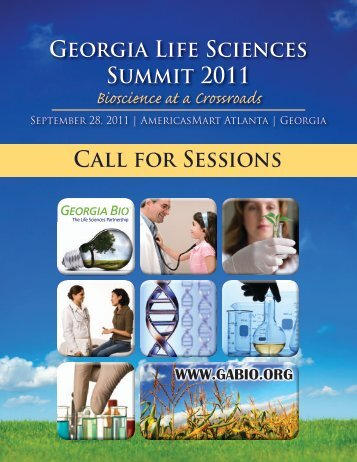Call for Sessions Georgia Life Sciences Summit 2011 - Informed ...