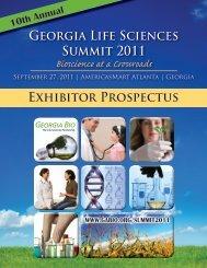 Exhibitor Prospectus Georgia Life Sciences Summit 2011 - Informed ...