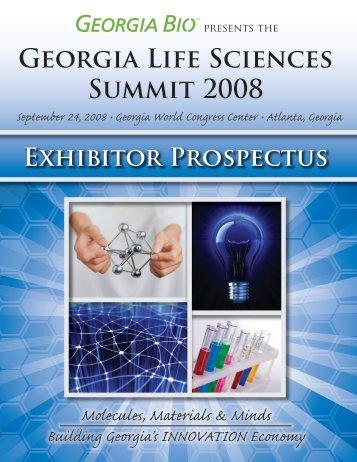 Georgia Life Sciences Summit 2008 - Informed Horizons, LLC