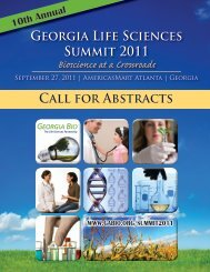 Call for Abstracts Georgia Life Sciences Summit 2011 - Informed ...