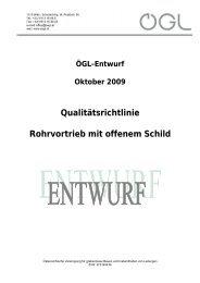 Qualitätsrichtlinie Rohrvortrieb mit offenem Schild