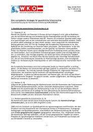 - 1 - Eine europäische Strategie für gewerbliche Schutzrechte