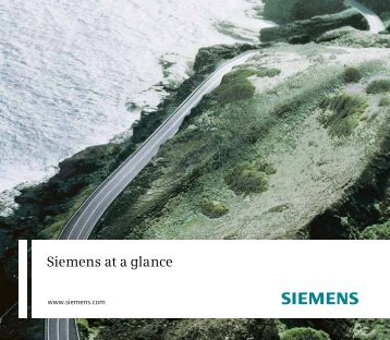 Siemens Annual Report 2010, Siemens at a glance