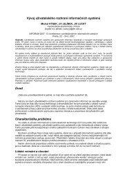 Vývoj uživatelského rozhraní informačních systémů Úvod ...