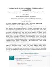 Tezaurus Medical Subject Headings – české zpracování v systému ...