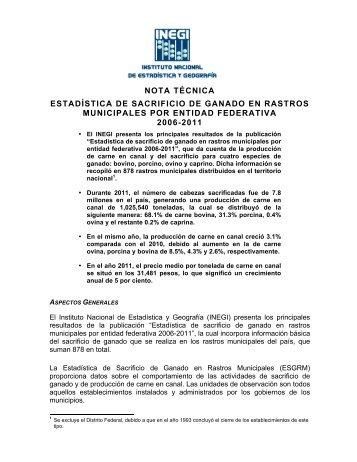 Se anexa Nota Técnica - InfoRural.com.mx