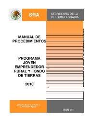 Manual de procedimientos Joven Emprendedor Rural 2010 - Sedatu