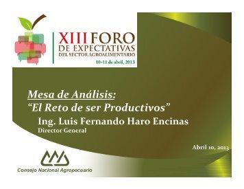 Luis Fernando Haro Encinas. El reto de ser ... - InfoRural.com.mx