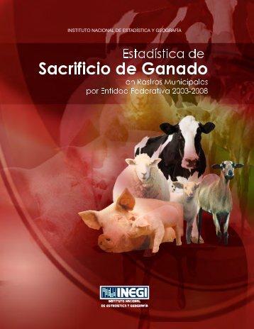 Estadística de Sacrificio de Ganado en Rastros ... - InfoRural.com.mx