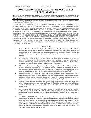 comision nacional para el desarrollo de los ... - InfoRural.com.mx